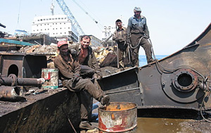Turkey shipbreaking yard