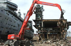 UK ship breaking yard