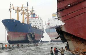 Alang ship breaking yard